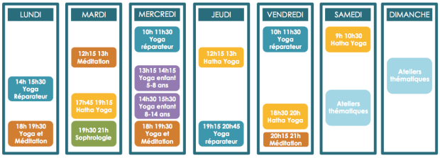Planning cours yoga Amboise